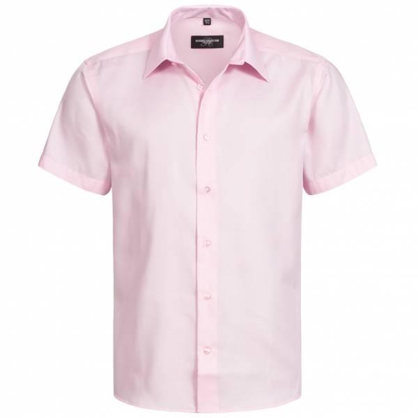RUSSELL Op maat gemaakt strijkvrij herenhemd met korte mouwen 0R959M0-Klassiek-Roze